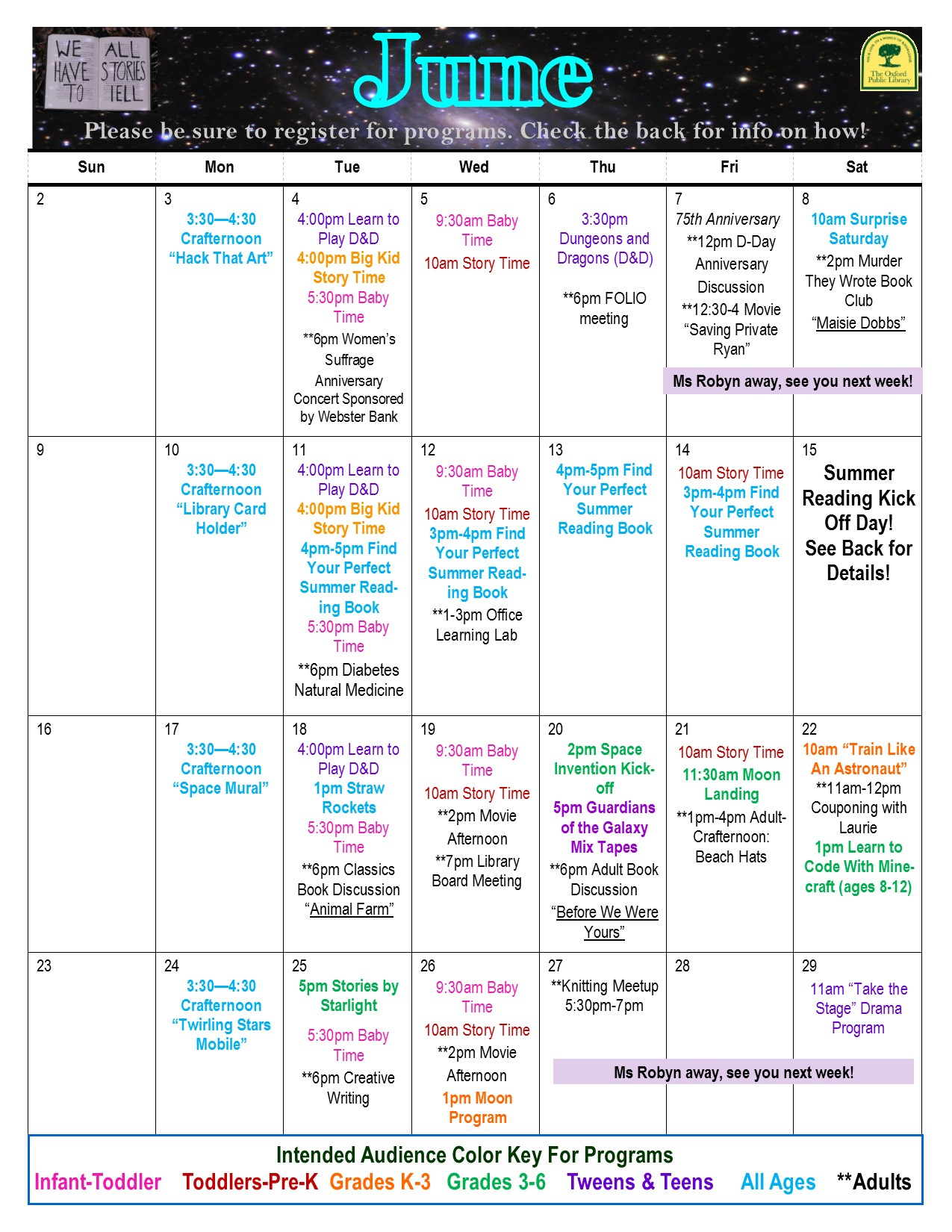 June 2019 Library Calendar Final Draft