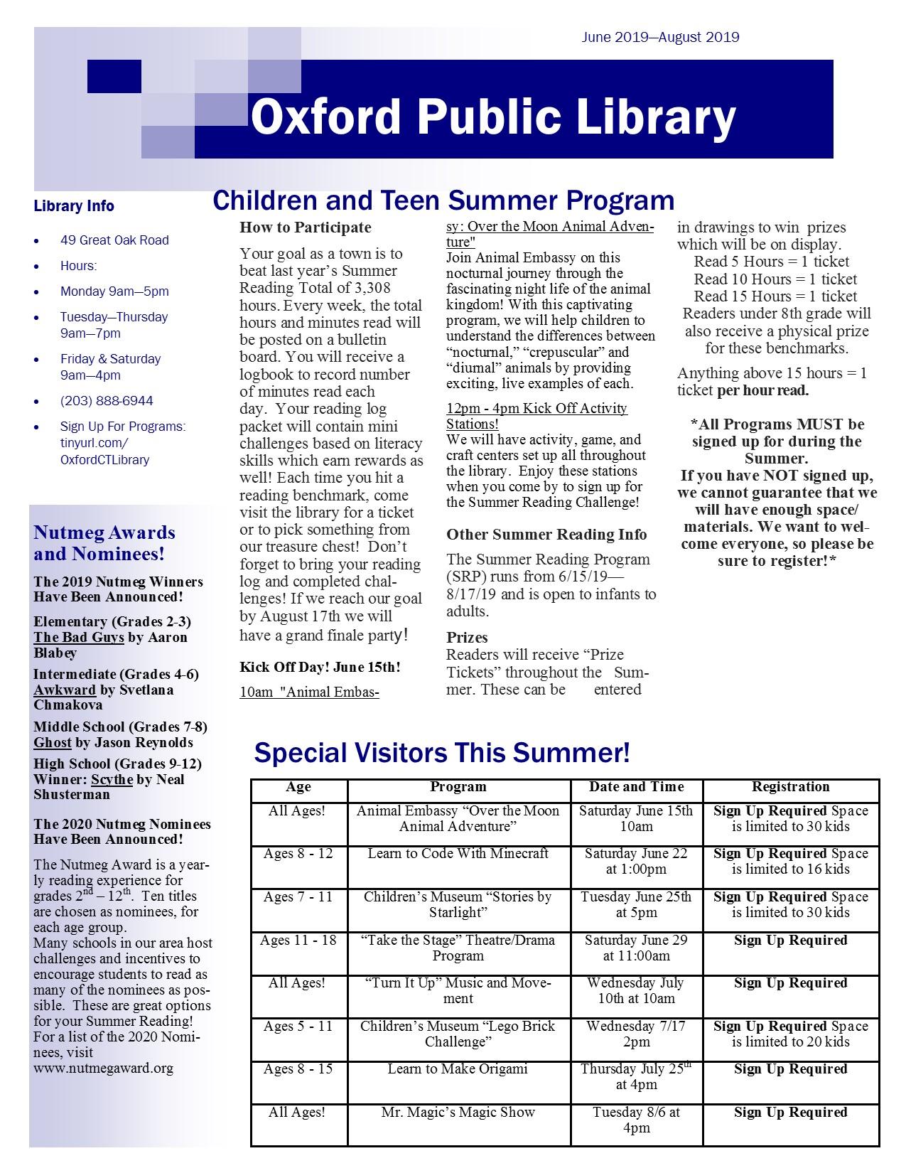June to August 2019 Newsletter pg 2